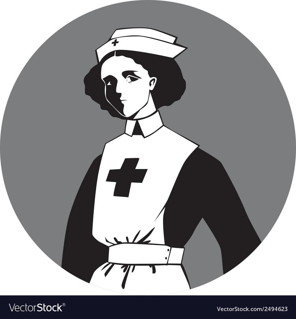 hight resolution of world war one nurse clipart vector image