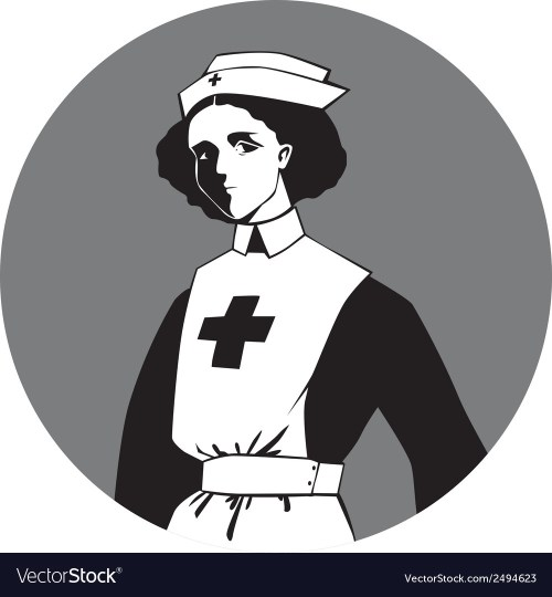 small resolution of world war one nurse clipart vector image