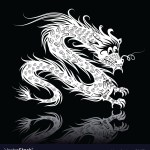 White Chinese Dragon Royalty Free Vector Image