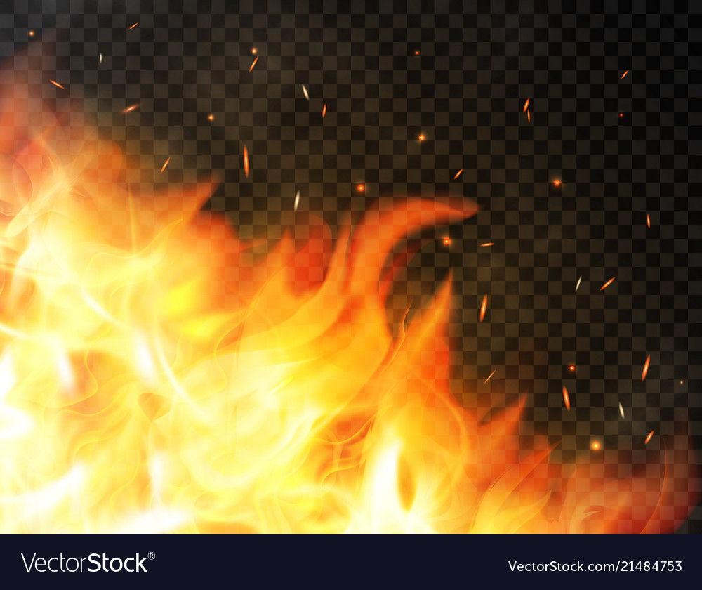 fire background with flames