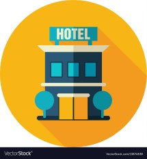 Hotel Icon Summer Vacation Royalty Free Vector