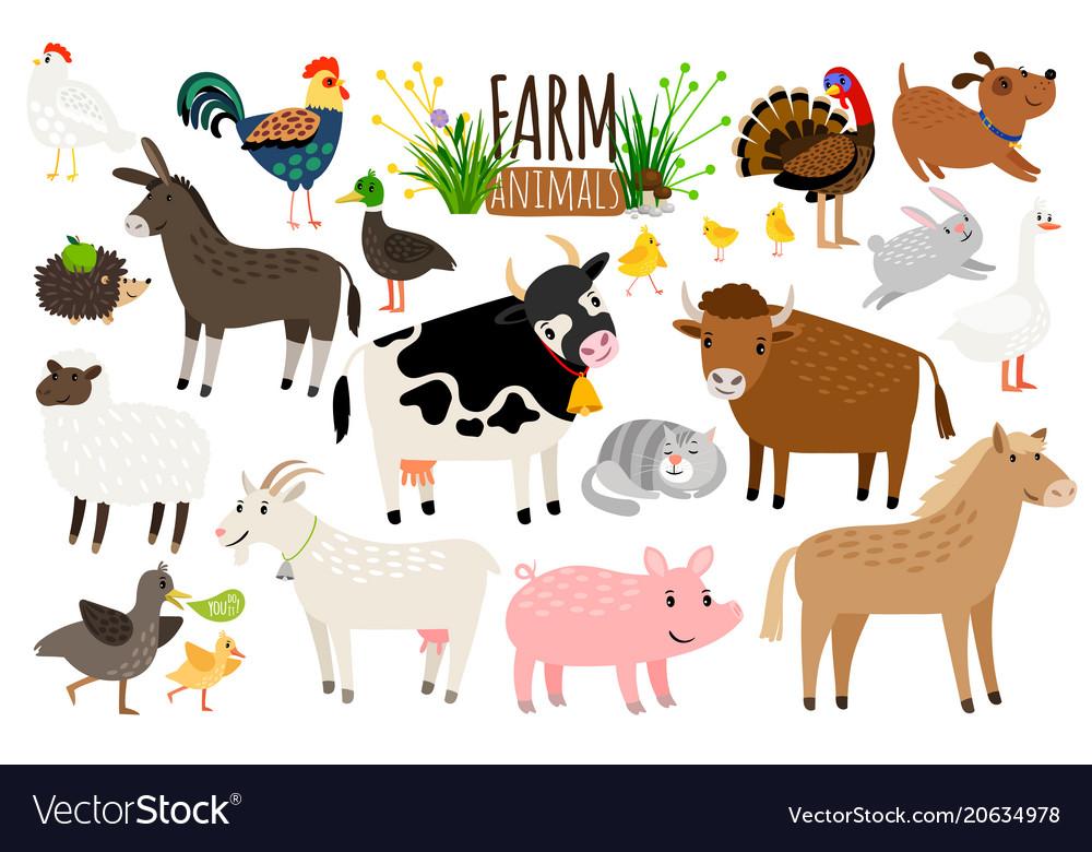 farm animals domestic farm
