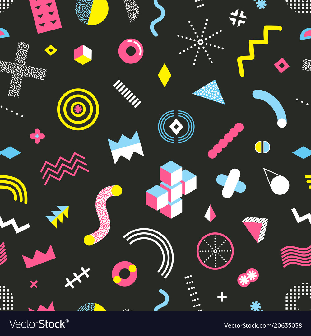 memphis design seamless pattern