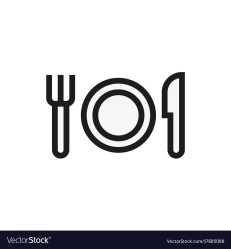 fork menu knife icon plate vector restaurant