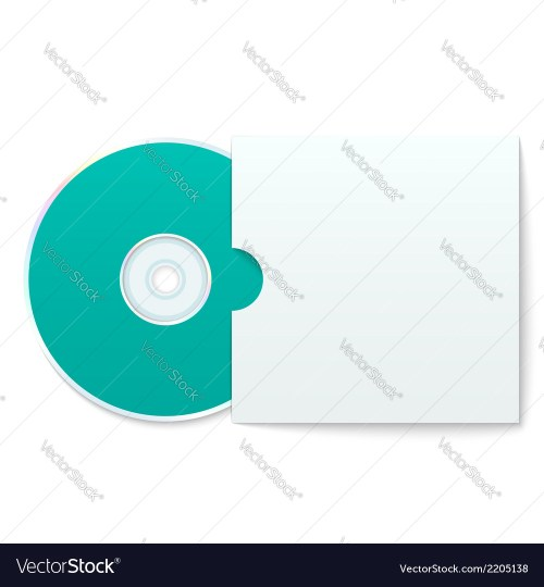 small resolution of blank compact disk with cover vector image