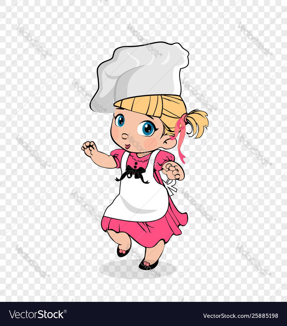 little girl chef in