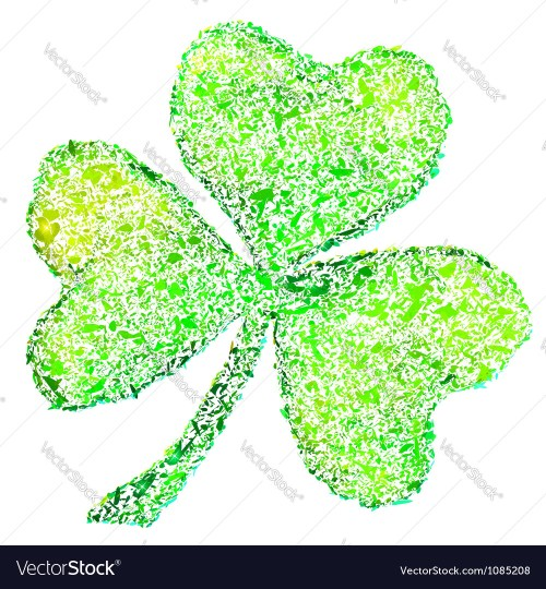 small resolution of isolated green clover on white vector image