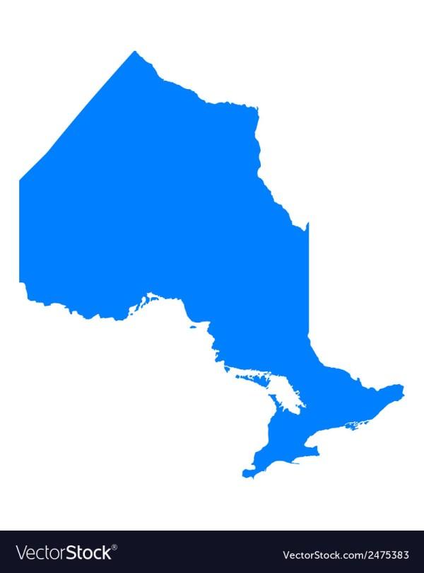 Map Of Ontario Royalty Free Vector - Vectorstock