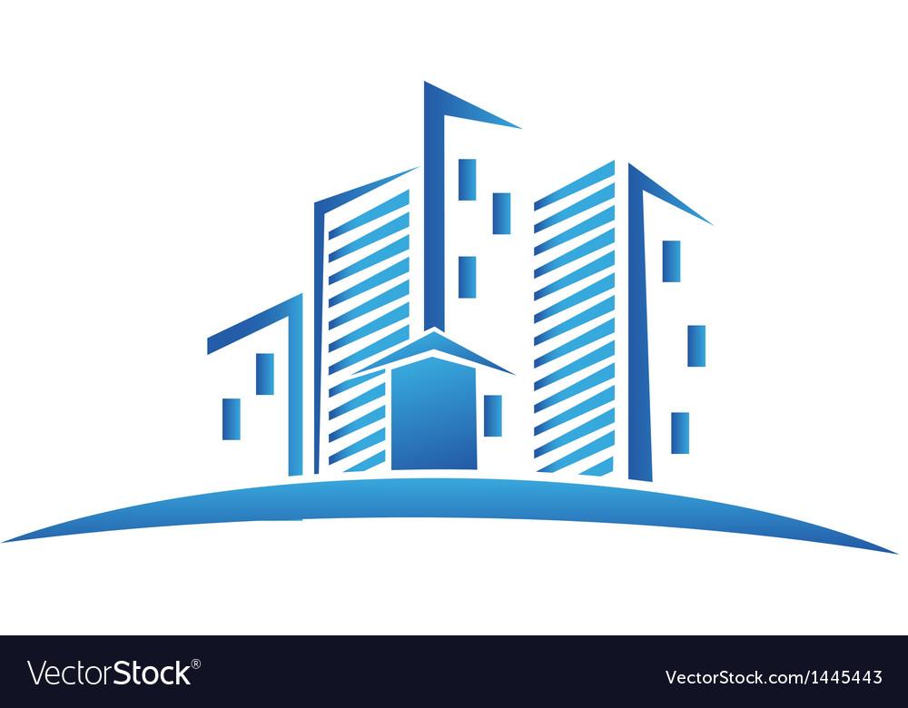 buildings real estate logo