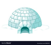 Igloo Icy Cold Home Ice House Royalty Free Vector