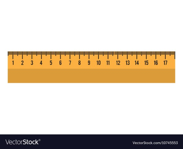 Cartoon Ruler Tool School Graphic Royalty Free Vector