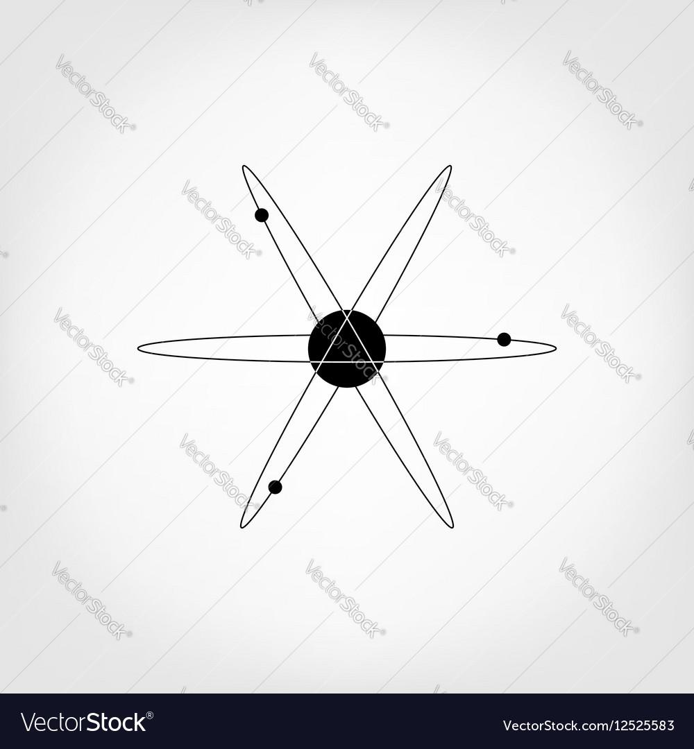medium resolution of icon atom model molecule vector image
