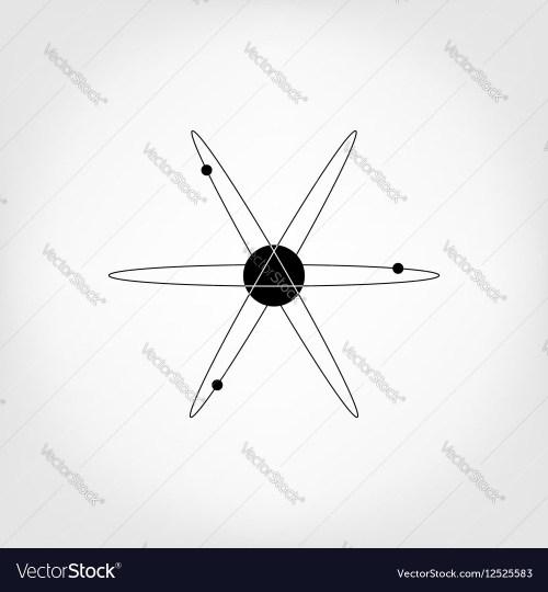small resolution of icon atom model molecule vector image