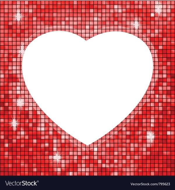 Heart Shaped Frame Royalty Free Vector - Vectorstock