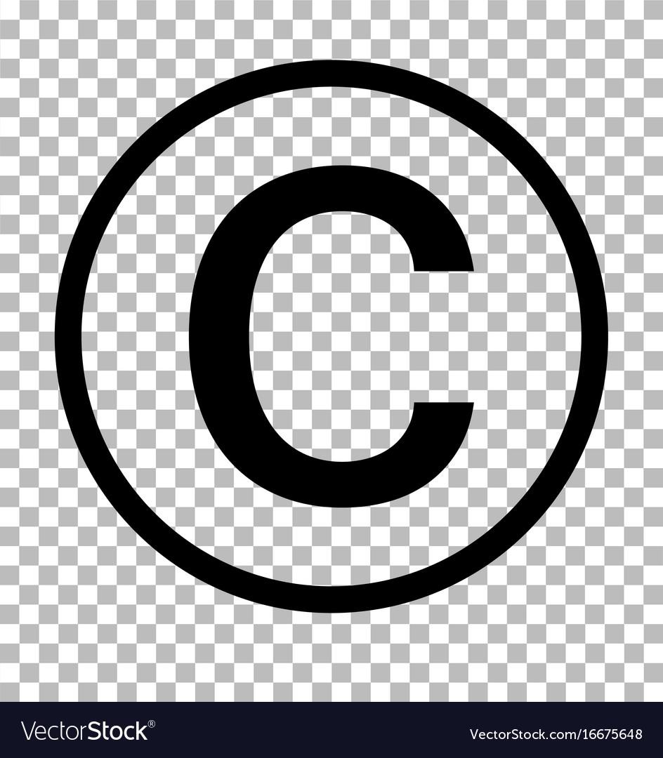 copyright symbol on transparent
