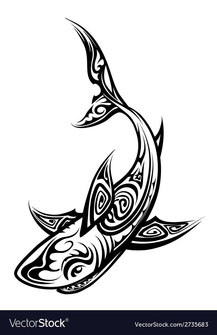 Polynesian Shark Tattoos : polynesian, shark, tattoos, Polynesian, Shark, Vector, Images