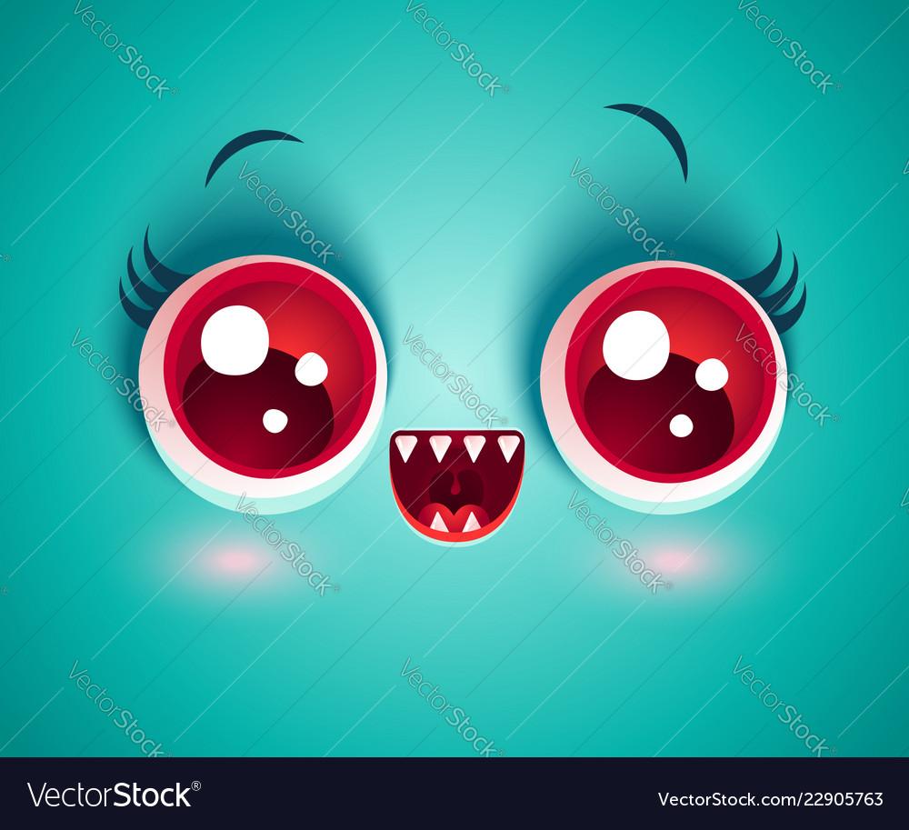 cute face of monster