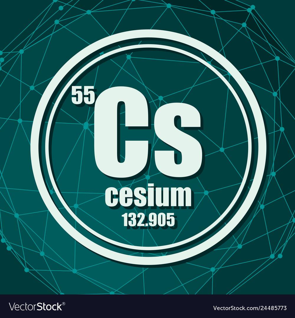 medium resolution of cesium chemical element vector image