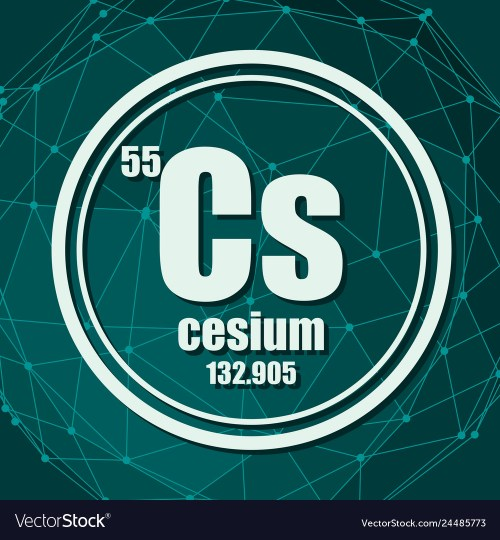 small resolution of cesium chemical element vector image
