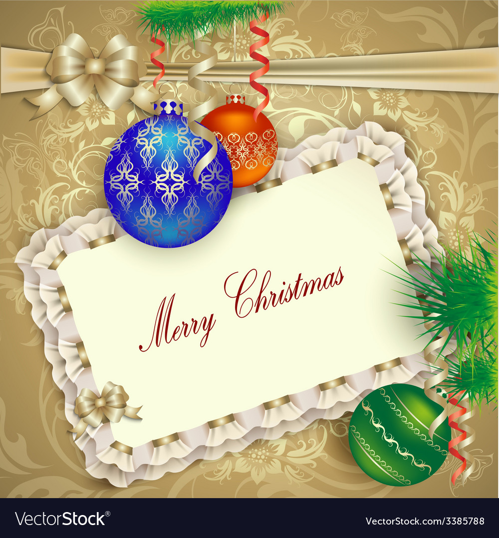 Christmas Card With Christmas Decorations