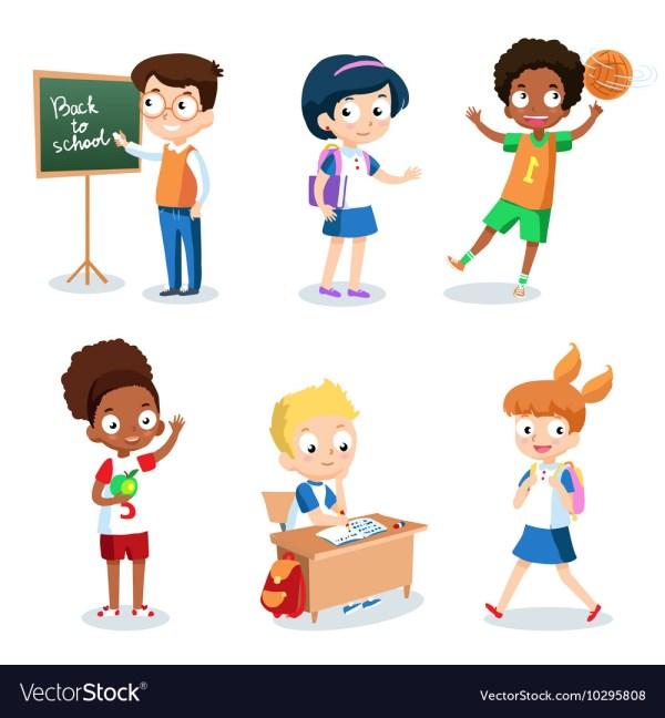Cartoon School Students - Reverse