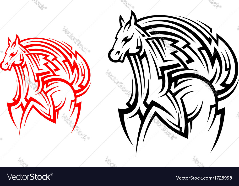 Tribal Horse Tattoo Images