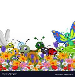 flower: Animated Flower Garden Clipart