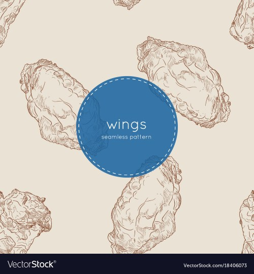 small resolution of buffalo chicken wings seamless pattern vector image