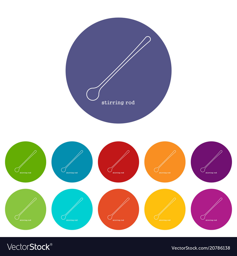 hight resolution of stirring rod icon outline vector image