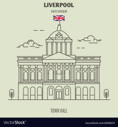 Town hall in liverpool Royalty Free Vector Image