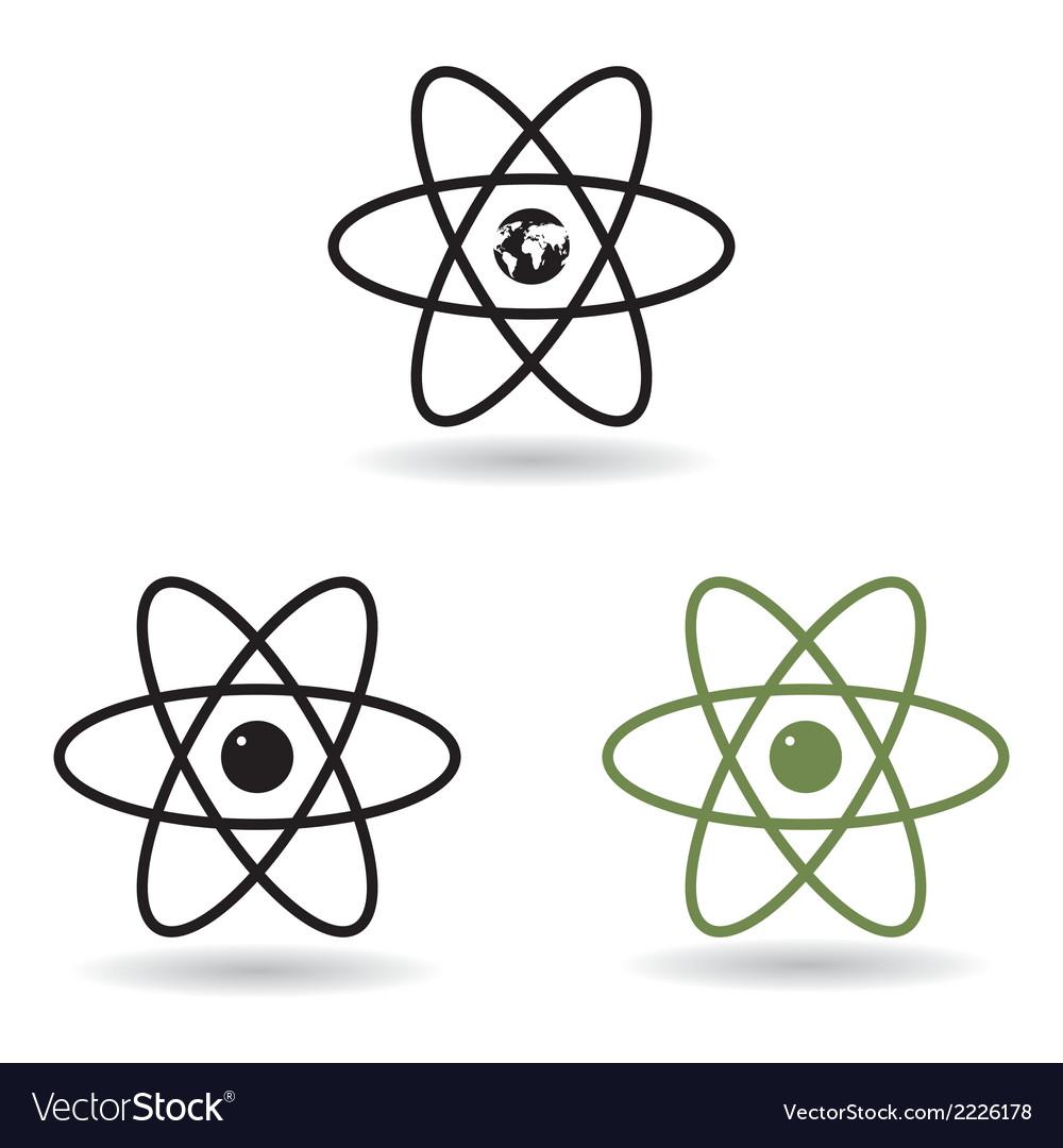 hight resolution of atom model vector image