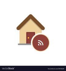 Home Automation Icon Smart House Sign Royalty Free Vector