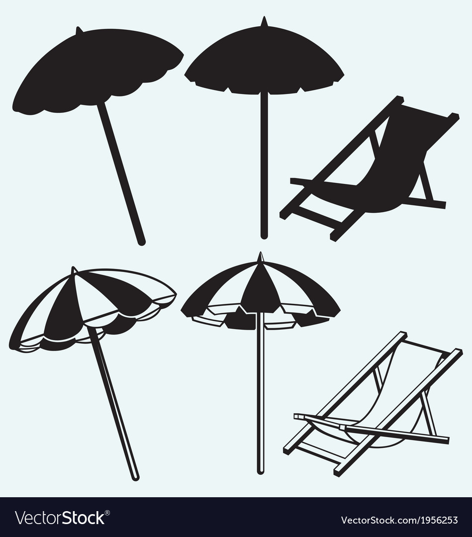 Chair With Umbrella Chair And Beach Umbrella