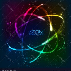Neon Atom Diagram Wiring For Led Tail Lights Shining Model Royalty Free Vector Image
