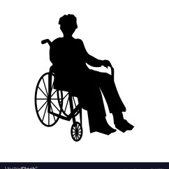 Wheelchair Man Lumbar Office Chair Or Woman In Silhouette Royalty Free Vector Image