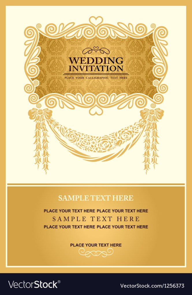 Wedding Invitation Royalty Free Vector