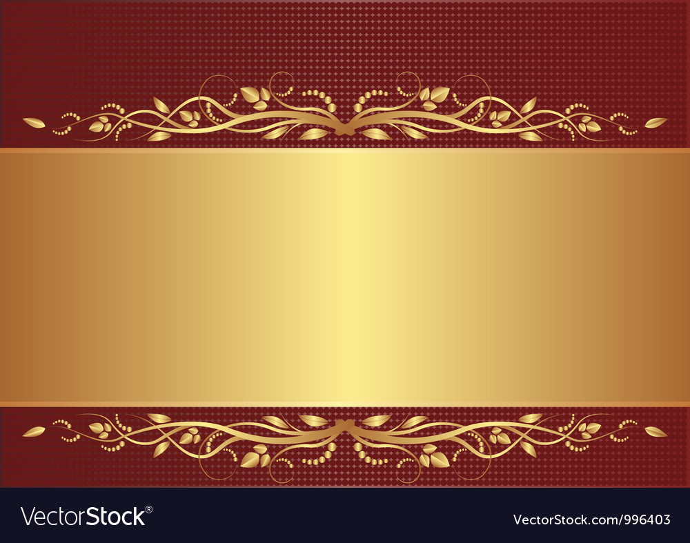 Burgundy and gold background Royalty Free Vector Image
