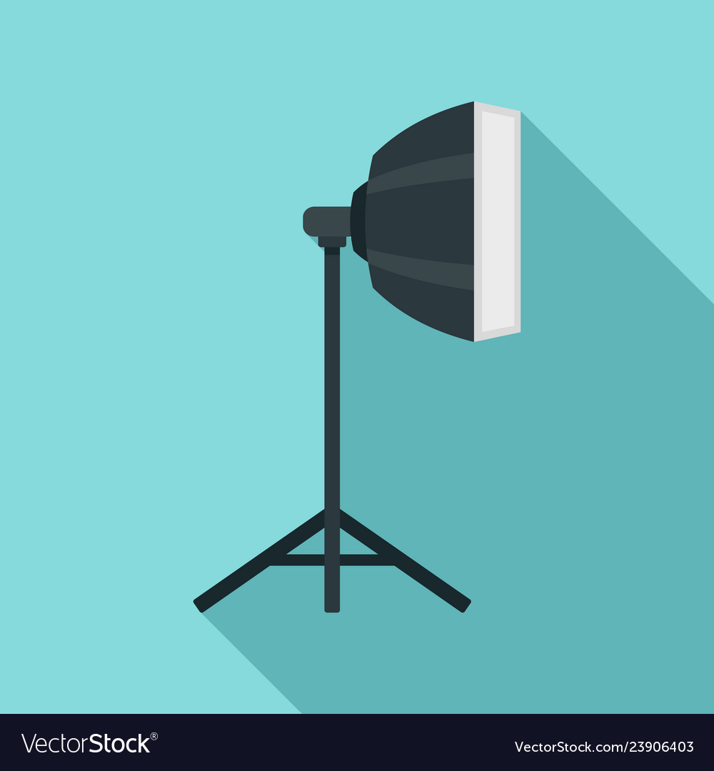 hight resolution of studio light stand icon flat style vector image