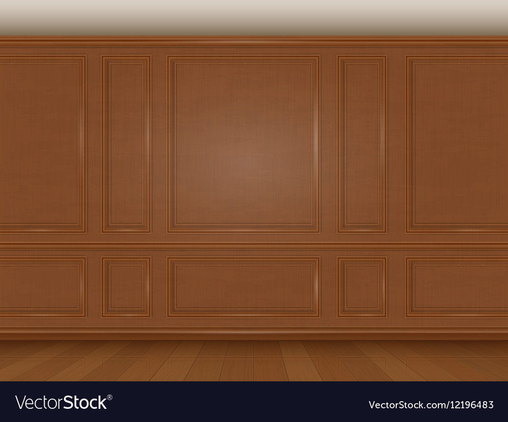 Wooden Wall Panel Royalty Free Vector Image Vectorstock