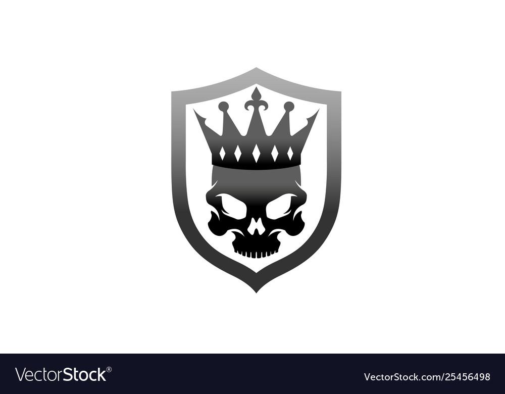 creative black skull crown