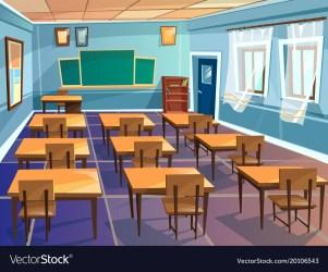 School or university classroom cartoon Royalty Free Vector