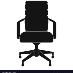 Simple Desk Chair Revolving Price In Ludhiana Office Icon Style Royalty Free Vector Image