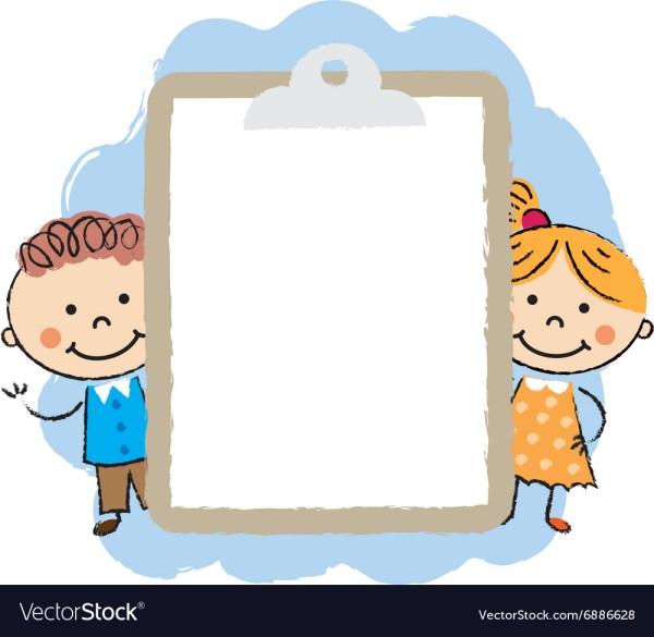 Cute Cartoon Kids Frame Royalty Free Vector