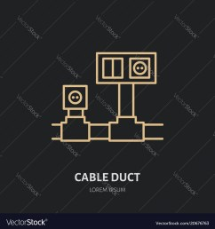 cable duct with power socket and light switch flat vector image [ 1000 x 1080 Pixel ]