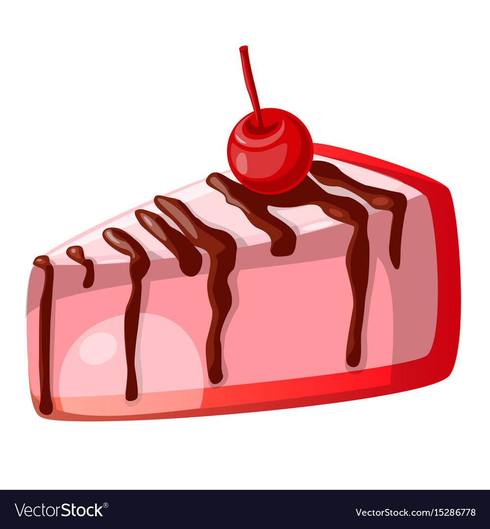 hight resolution of icon decorative slice cake vector image