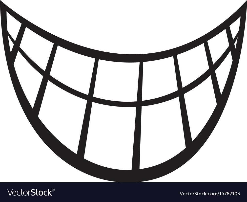 Big happy toothy cartoon smile icon Royalty Free Vector