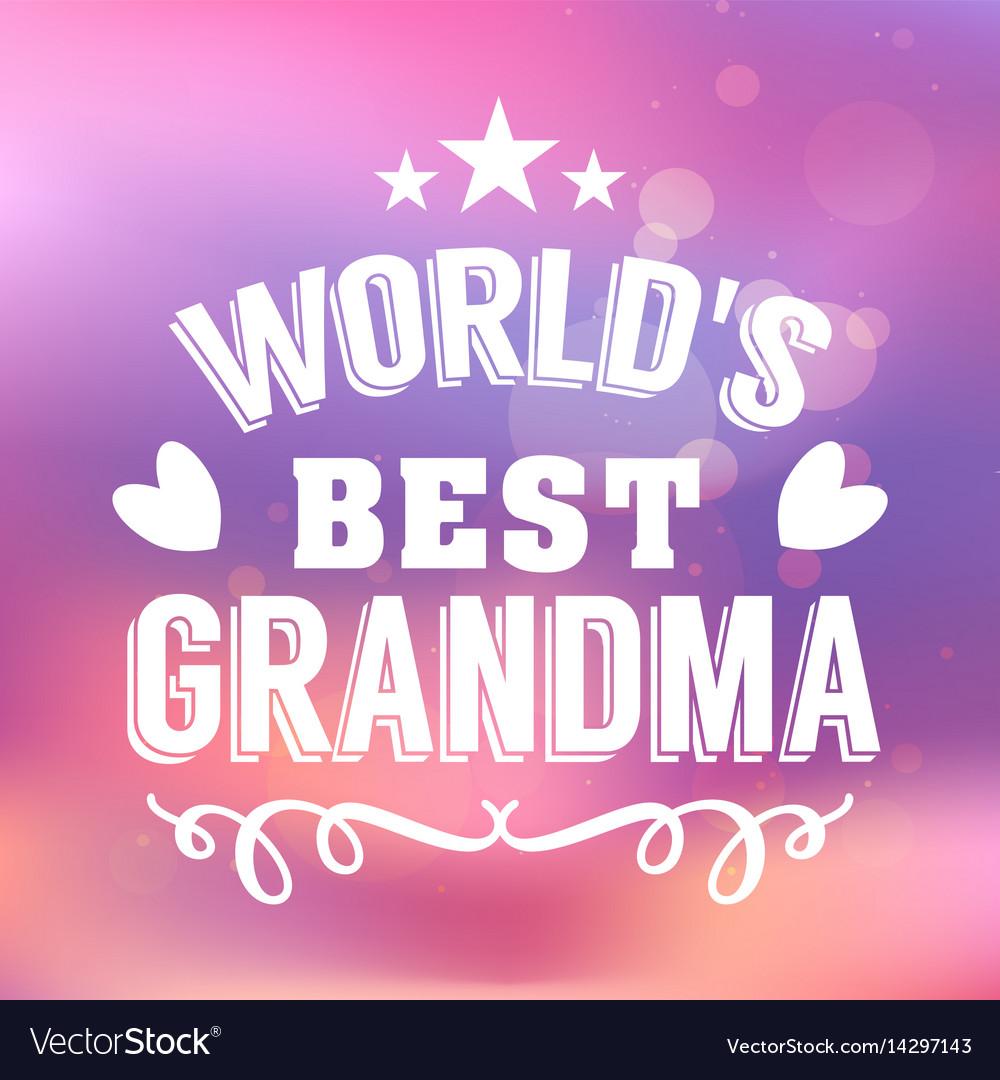 best grandma handwritten in