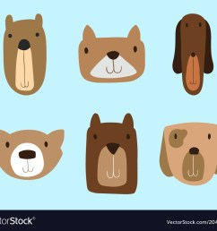 dogs clipart set for commercial use vector image [ 1000 x 880 Pixel ]