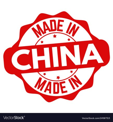 Made in china sign or stamp Royalty Free Vector Image