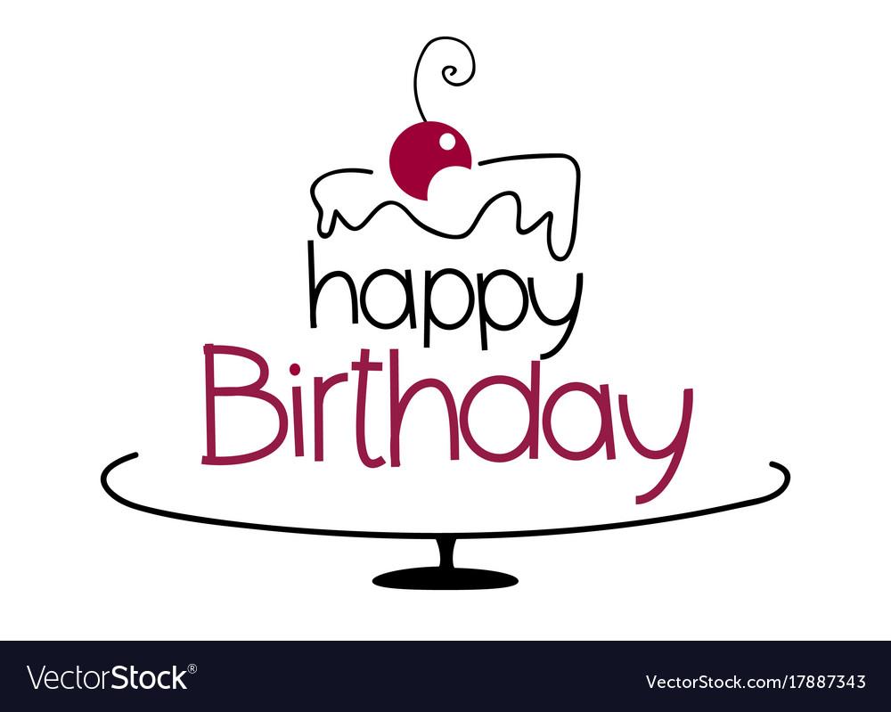 Birthday Cake Drawing Royalty Free Vector Image